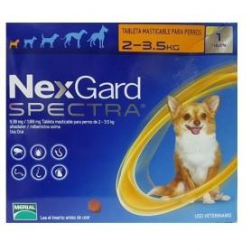 Nexgard Spectra 2 a 3.5 kg 1 Comprimido