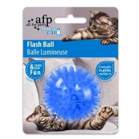 Pelota azul para gatos con luz