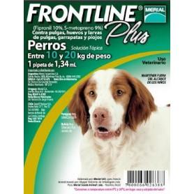 Frontline Plus Pipeta para Perros de 10 a 20 kg