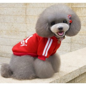 Poleron DogBaby Rojo Talla S